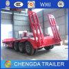 Reboque do reboque 50ton Lowbed do Gooseneck do eixo da venda direta 3 da fábrica de China