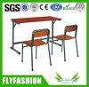 Mesa barata e cadeiras do dobro da escola do preço ajustadas (SF-10D)