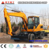 El movimiento de tierras trabaja a máquina el excavador largo del alcance de la construcción del excavador 12ton