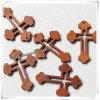 Croix en bois décorative découpée par main religieuse de Pâques (IO-cw005)