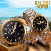Montre-bracelet de mode pour hommes et femmes avec bracelet en acier inoxydable en or rose 2 tons