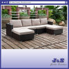 Mobilia di vimini del giardino del rattan del PE della resina del patio esterno, sofà modulare impostato (J383-D)