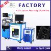 Máquina caliente de la marca del laser del CO2 del modelo de escritorio de la venta para el no metal