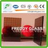 vidro de indicador de vidro prendido bronze da mobília do vidro modelado de 3.5mm Nashiji