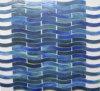 最もよい普及した虹の波のガラスモザイク・タイル