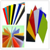 Hoja de acrílico plástica colorida