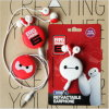 Grosses Hero Baymax Retractable Earphone in-Ear Earphones für Handy
