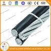 Aluminiumleiter/Service-Absinken-Triplex zusammengerolltes Luftkabel