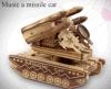 Rectángulo de música hermoso de madera del tanque