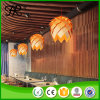 간단한 모양 Pinecone 나무로 되는 펀던트 램프 또는 빛