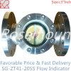 Indicador visual de flujo con brida rueda de paleta para líquidos