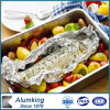 Envase de alimento rectangular del papel de aluminio