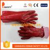 PVC красного цвета Ddsafety 2017 полно окунул запястье руки Knit вкладыша блокировки перчаток