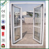 Perfil de PVC de Importação na China Open Outside Tempered Glass Doors