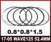 Piezas de la motocicleta de la alta calidad del aro del pistón Wave125