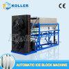 Máquina del bloque de hielo de Koller, fabricante de hielo para hacer el hielo comestible, 3ton al día
