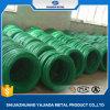 Alambre obligatorio revestido del PVC del color verde