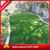 Herbe artificielle synthétique bon marché de pelouse pour la maison de jardin d'horizontal