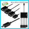 Micro USB para cargar y datos 4 * USB OTG Hub Adapter
