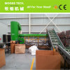 la máquina de reciclaje plástica del animal doméstico adentro recicla la línea que se lava