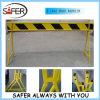 Panneaux jaunes de barrière de PVC avec la bande r3fléchissante (S-1642)