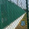 Frontière de sécurité augmentée enduite par PVC de treillis métallique