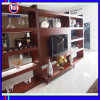 Wood classico TV Cabinet con Showcase (ZH035)