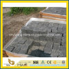 G684 de Zwarte OpenluchtOprijlaan/het Terras van Foor van de Straatsteen van het Basalt