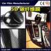 Alta pellicola lucida dell'involucro dell'automobile del vinile della fibra del carbonio di struttura 5D del nero 3D