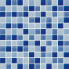 4mm 6mm Thickness Blue и White Glass Mosaic Pool Tiles