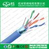 Blaue Kategorie 5e F/UTP 24 AWG-Lehre 4 Paare abgeschirmte Kabel-