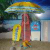 砂袋サポートが付いているビーチパラソル
