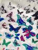 Habotai di seta Print in Butterfly Desgin