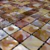 虹色の淡水の貝のモザイク・タイルの網の接合箇所、Backsplash (BFW-HC-SQ20)