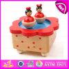 2015 коробка нот Carousel украшения рождества деревянная, цветастая деревянная коробка нот, дешевая деревянная оптовая продажа W07b001 коробки нот игрушки