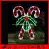 Luz decorativa do motivo do Natal do diodo emissor de luz da muleta