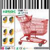 Carretilla de las compras del supermercado de la capa del polvo para los almacenes