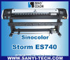 Sinocolor Es740 Eco Solvent Large Format Printer、Epson Dx7 Head、Photoprint Ripとの1.8m