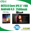 Mtk6572 Dual Core 1.3GHz Android 4.2 1080P IPS 5  Mobile Phone