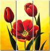 Pintura moderna arte de la pared roja fresca Flor