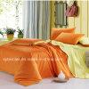 Bedsheets puros coreanos da HOME do algodão da cor 100% da cor contínua ajustados