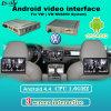 Navegación androide del interfaz de la mejora del reproductor de DVD del coche para Passat/Golf7/Lamando/Skoda