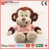 Giocattolo molle della scimmia dell'animale farcito del giocattolo della peluche per i capretti della neonata