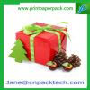 Het Verpakkende Vakje van de Gift van het Document van Kerstmis van het Lint van het Vakje van de Verpakking van het Karton van de douane