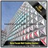La fachada al aire libre del recubrimiento de paredes de China artesona el panel compuesto de aluminio