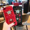 iPhone 7の刺繍の電話箱のための2017年の向く製品の革コーティングのパソコンの箱