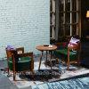 Los muebles de madera del restaurante fijaron con la tapicería cómoda y la mesa redonda (SP-CT826)