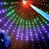 Decoração da luz de pólo da bandeira da luz da rede da cintilação do feriado do diodo emissor de luz