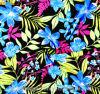 Telas polis de Boardshorts do algodão da cópia floral Cationic anti-bateriana