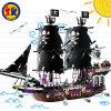 Jouet général de blocs de pirate de noir en plastique de série pour des gosses